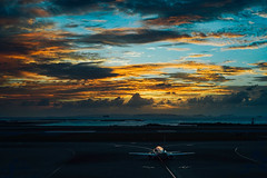 (Tridentz | ) Tags:  sony fe fe50 50mm f18 a7 alpha alpha7 airport airplane sky sunset dusk travel