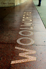 Out In The Street (Cheri Sundra: Guerrilla Historian) Tags: wilkesbarre pennsylvania pennsylvaniahistory luzernecounty woolworths publicsquare thesquare streetphotography cherisundra cherylsundra commonwealthpa retail sidewalk letters words w o l r t h s wordsinart