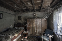 Oh! what  a tangled web we weave (Kriegaffe 9) Tags: cobwebs bedroom decay abandoned bed