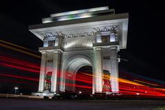 Arc de Triomphe (Pyongyang) at night (Sam Wise) Tags: pyongyang dprk north korea monuments juche night photography urban long exposure arc de triomphe