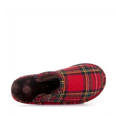 Bedroom Athletics - Ewan - Tartan Check Mule Slippers - Red / Green (Bedroom Athletics) Tags: mens ewan tartan check mule slippers red green by bedroom athletics wool mix upper warm comfortable lining branded metal rivet textile covered nonslip tpr sole bedtime tweed nightwear side view bed comfort sleep foot feet innovative fluffy furry bedroomathletics room loungewear clothing womens slipper style look fashion fashionable stylish