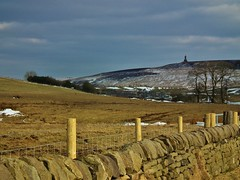 Tockholes with Darwen Tower in background (wakeuplittlesuzy) Tags: snow tower landscape scenic hills darwen tockholes