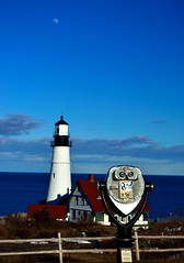 Viewfinder (joseph.ibrahim) Tags: blue sunset sky moon lighthouse portland elizabeth view maine east cape finder viewfinder