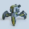 Giiruu VT5 - Assault Runner (Fredoichi) Tags: robot lego space military walker micro mecha mech multiped microscale fredoichi