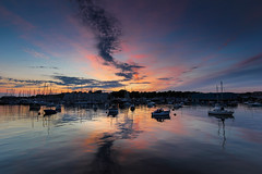 Stonehouse sunset II (snowyturner) Tags: clouds creek reflections boats plymouth estuary devon yachts tamar stonehouse