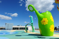 DSC_4998 (K_Marsh) Tags: flowers blue sky green playground newjersey asburypark large wateringpot