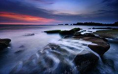 Evening on Mengening (eggysayoga) Tags: longexposure sunset sea bali seascape motion rock indonesia evening coast nikon hard filter lee nd graduated waterscape gnd canggu waterwave d7000 mengening