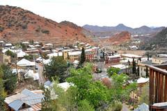 bisbee (greenelent) Tags: arizona mountains southwest landscape town view az photoaday 365 bisbee