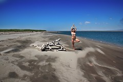 The Art of Balance () (www.francescaalviani.com) Tags: love beach yoga de peace elsalvador albero blance thisisme equilibrio baha treepose letitgo ekhart questasonoio nonattachment jiquilisco vairagya bahadejiquilisco iloveyoga yogaonline ekhartyoga yogime francescaalvianiyoga