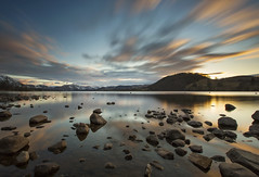 Ullswater (Vemsteroo) Tags: uk longexposure light sunset lake snow mountains reflection water clouds canon landscape evening spring rocks sundown dusk lakedistrict scenic lee cumbria vista filters 06 capped f28 6d ullswater 1635mm beautyinnature ndgrad bigstopper