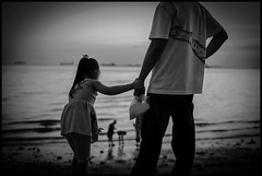 True Stories 2013 - #20 (digitalink77) Tags: blackandwhite beach 35mm philippines daughter manila malate fujifilm fatheranddaughter truestories daughterandfather xe1 blackwhitephotos girlonbeach malatemanila fujinonxf35mmf14r fujifilmxe1 fujixe1