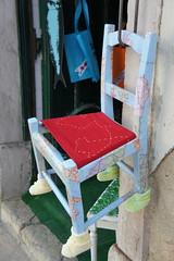 Chair with feet! (notFlunky) Tags: city portugal shop chair lisboa lisbon capital eu slippers repblica portuguesa iberia
