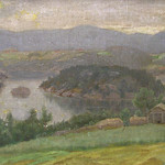"<b>Island Scene: No. 17</b><br/> Gausta, #520, Oil, Painting<a href=""http://farm9.static.flickr.com/8122/8638190062_283f8926ce_o.jpg"" title=""High res"">∝</a>"