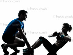 man woman exercising abdominal workout fitness (Franck Camhi) Tags: shadow two people woman white man male sports girl silhouette female training cutout pose person one coach sitting exercise fulllength couples bodybuilding indoors whitebackground studioshot posture pushups weightlifting bodybuilder workout fitness adults isolated position trainer weights aerobics gymnastic caucasian weighttraining personaltrainer abdominal exercising aerobicinstructor