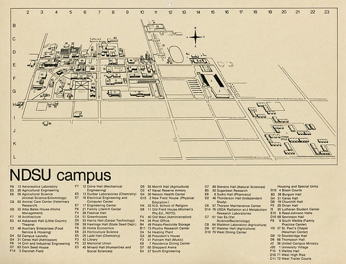 North Dakota State University campus map, 1977