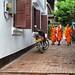 Three Novices.  Luang Prabang, Laos.