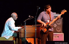Reuban Wilson and Kevin Scott, Bernard Purdie, Reuben Wilson and Grant Green, Jr. (formerly known as the Godfathers of Groove) with special guest Donald Harrison, 2012 Detroit Jazz Festival (jackman on jazz) Tags: music bass detroit jazz organ jazzfestival detroitmichigan detroitjazzfestival detroitinternationaljazzfestival kevinscott d7000 godfathersofgroove nikond7000 jackmanonjazz alanjackman reubanwilson