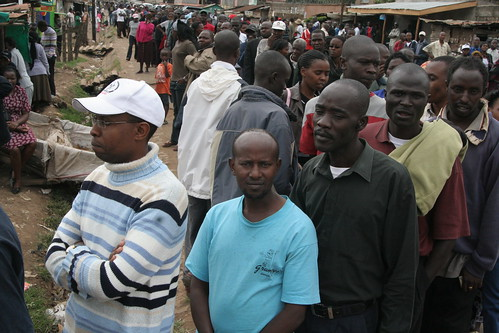 Line to vote, Dagoretti, Nairobi