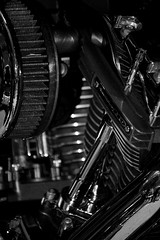 Screamin' 110 (Triple_B_Photography) Tags: blackwhite engine motorcycles harley filter chrome motor hd edit screamingeagle elementsorganizer