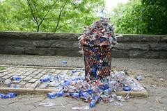 Garbage at AIDs Walk NYC
