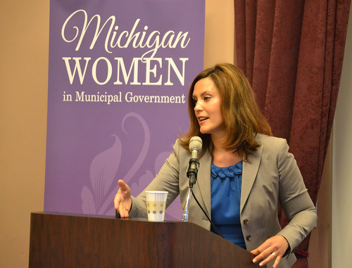 Sen. Gretchen Whitmer Talks with Members by Michigan Municipal League (MML), on Flickr
