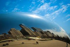 Azul da cor do mar (andrea AMADO) Tags: usa chicago canon eua millenniumpark 2013 canont4i