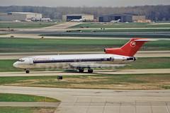 Boeing 727 at Detroit Metro, MI., May 1995. (piktaker) Tags: jet boeing dtw northwestairlines trijet boeing727 jetairliner kdtw classicairliner 727251 n278us