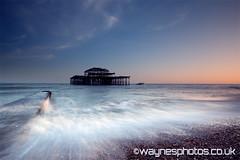 West Pier - Sunset (Blurred-vision) Tags: art photography photos photographic canvas waynes prints landscapephotography waynehumphrey waynesphotos