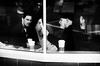 It's gonna be alright (. Jianwei .) Tags: street urban bw coffee three newspaper mood candid sony starbucks worry a55 kemily 忧国 忧民 忧己