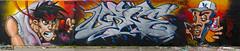 BRAVE & URGE Graff Pano (sparkeyb) Tags: art graffiti artwork nikon mural artist graf cartoon urbanart brave spraypaint 40mm urge bravearts d7000 sparkeyb
