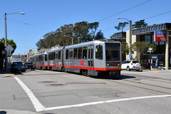 Muni 1414 [San Francisco tram] (Howard_Pulling) Tags: sanfrancisco camera usa america us nikon tram april trams strassenbahn 2013 hpulling d5100