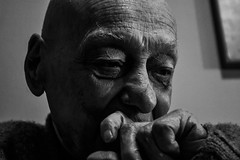 Sudden image (Leonard M.) Tags: old portrait blackandwhite bw man face skin elderly e bianco nero contrasto ortrait anziano