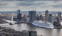 Norwegian Breakaway as seen from the Euromast (Arie van Tilborg) Tags: cruise norway rotterdam norwegian cruiseship 010 breakaway cruiseterminal ncl norwegianbreakaway
