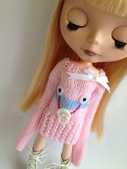 Babyface sweater in pink and blue