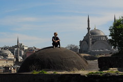 (Eye on the World) Tags: roof istanbul mosque tourist dome minarets buyukvalidehan