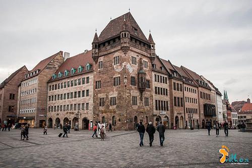 A medieval cidade de Nuremberga foi completame...