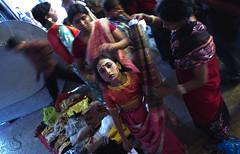 Untitled (Sandipa Malakar (bristii)) Tags: woman india festival asia religion streetphotography idol tradition hinduism kolkata bengal kalighat 60d gajan