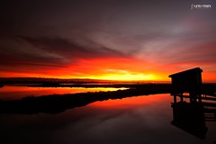 Don Edwards Fire (universini) Tags: sunset sky color reflection slr abandoned colors architecture canon reflections donedwards bayarea alviso sini mandya alvisomarina universini siddegowda nidagatta