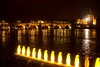 Prague, at night, with yellow penguins (y3rdua) Tags: prague praha czechrepublic crackingartgroup