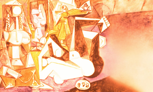 """Odaliscas (Mujeres de Argel) yuxtaposición y deconstrucción de Pablo Picasso (1955), síntesis de Roy Lichtenstein (1963). • <a style=""""font-size:0.8em;"""" href=""""http://www.flickr.com/photos/30735181@N00/8748001016/"""" target=""""_blank"""">View on Flickr</a>"""