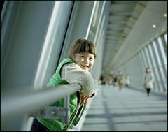 Hi Sunshine! (MichelleSimonJadaJana) Tags: portrait color 120 mamiya girl childhood japan analog children tokyo kid portable scanner documentary lifestyle 7 rangefinder snaps ii  epson medium format  compact flatbed jada 80mm f4l 7ii vuescan v750 gtx970