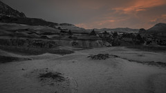 From a lacerated sky (Linus Wrn) Tags: leica red sky nature crimson turkey landscape nationalpark hiking unesco cappadocia rockformations kapadokya fairychimneys gremenationalpark
