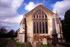 Terrington St John (Trojan_Llama) Tags: camera film church window 35mm village norfolk olympus medieval stjohn xa2 xa cheap fenland wisbech 50p poundland cheapskate terrington