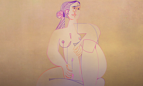 "Mujer Sentada, geometrización de Pablo Picasso (1953), abstracción de Roberto Real de León (2013). • <a style=""font-size:0.8em;"" href=""http://www.flickr.com/photos/30735181@N00/8805321025/"" target=""_blank"">View on Flickr</a>"