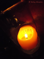 Dining by Candlelight (Sally Chisom) Tags: restaurant candle wine bandera