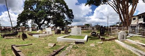 Paradise cemetery, San Fernando, #Trinidad. Farewell, Aunt Daphne, 1917-2013 is an excellent innings.