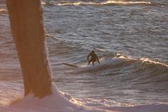 Winter Surf (TrentNiekerk) Tags: sunset snow wet michigan surfing noedit lakesuperior marquette goldenhour mqt wintersurfer puremichigan onlyinmarquette freshoffthecam