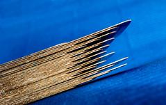 Gilt edged... (Macro Mondays 'Cards')  36 (+Pattycake+) Tags: blue playingcard macromondays abstract diagonals gold art macro side diagonal minimalism simplicity mm cards arranged gilt giltedged