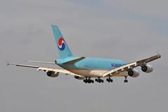 KE0907 ICN-LHR (A380spotter) Tags: approach arrival landing finals shortfinals threshold airbus a380 800 msn0068 hl7614  koreanair kal ke ke0907 icnlhr runway09l 09l london heathrow egll lhr