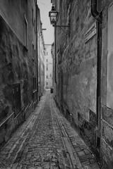 Old street (la1cna) Tags: monochrome walking sweden bnw oldbuilding street city streetphoto summer urbanliving fujifilm stockholm streetphotography travel urban textures 21mm
